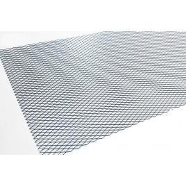 Plasa bara tuning aluminiu negru 100x33 cm