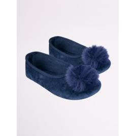 Botosei bleumarine cu puf (marime disponibila: marimea 34)
