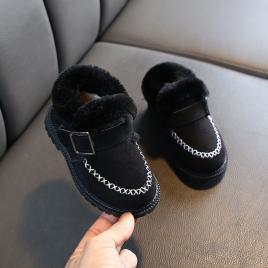 Ghete imblanite negre pentru fetite (marime disponibila: marimea 23)