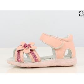 Sandale pentru fetite din piele naturala - shining flower (marime disponibila:...