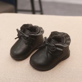 Ghete negre pentru fetite cu volanas (marime disponibila: marimea 25)