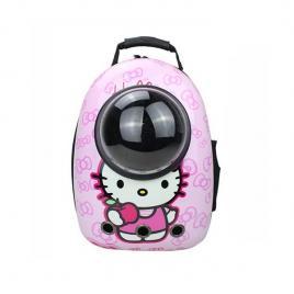 Rucsac transport animale de companie, tip capsula, impermeabil roz hello kitty