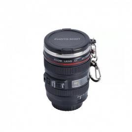 Cana pentru shot in forma de obiectiv foto, 50 ml, negru