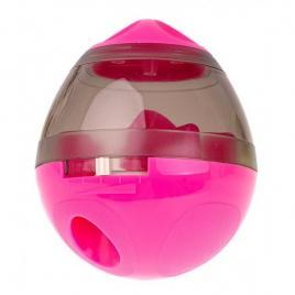 Jucarie cu dispenser de recompense pentru catei, roz