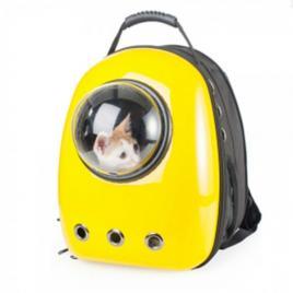 Rucsac transport animale de companie, tip capsula, impermeabil galben