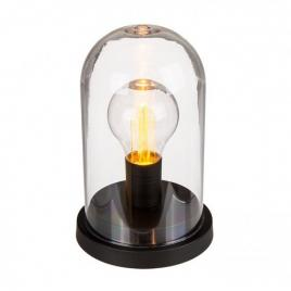 Lampa led in cupola cu suport metalic, model retro negru