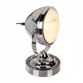 Lampa de birou model retro, cromata, 25 w argintiu