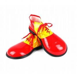 Pantofi de clovn pentru adulti, 35 cm rosu/galben