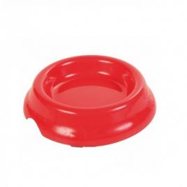 Castron din plastic pentru pisici trixie 2474, capacitate de 0.2 l, 11 cm rosu