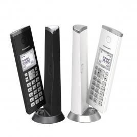 Telefon Panasonic DECT fara fir KX-TGK212FXBW, Twin, Duo, 2 receptoare, Caller ID, Negru/ Alb (KX-TGK210FXB + KX-TGK210FXW)