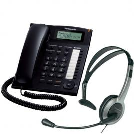 Telefon Panasonic KX-TS880FXB + Casca Panasonic RP-TCA430E-S