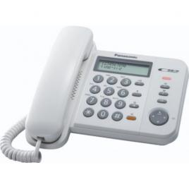Telefon analogic Panasonic KX-TS580FXW, caller ID, Alb