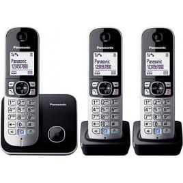 Telefon fara fir DECT Panasonic, 3 receptoare, Caller ID, Negru/Argintiu (KX-TG6812FXB + KX-TGA681FXB)