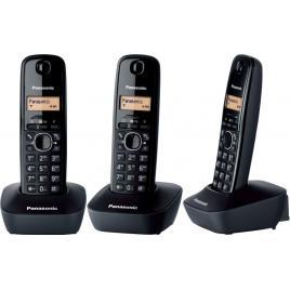 Telefon fara fir DECT Panasonic KX-TG1612FXH + KX-TG1611FXH, Caller ID, 3 receptoare, Negru