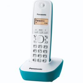 Telefon fara fir Panasonic DECT KX-TG1611FXC, Caller ID, Alb/Verde