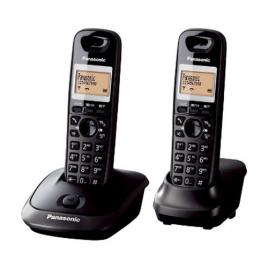 Telefon fara fir Panasonic DECT Twin KX-TG2512FXT, 2 receptoare, Caller ID, Negru