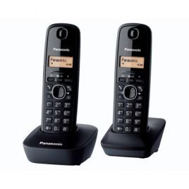 Telefon fara fir Panasonic Dect Twin KX-TG1612FXH, 2 receptoare, Caller ID, Negru