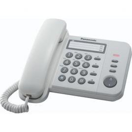 Telefon fix analogic Panasonic KX-TS520FXW, White