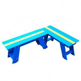 Bancuta albastru cu galben din PVC HELENE