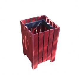 Cos gunoi Helene pentru exterior din pvc rosu capacitate 50L