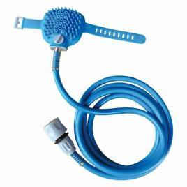 Kit de spalare animale de companie, tip manusa, albastru, gonga