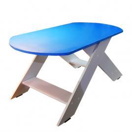 Masa pentru cafea albastru cu alb HELENE