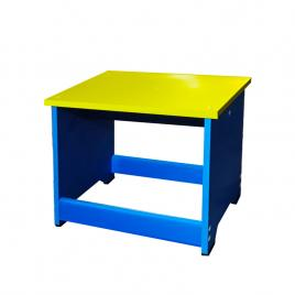 Scaunel tip bancuta din PVC albastru galben HELENE
