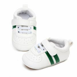 Adidasi bebelusi cu dungi verzi (marime disponibila: 6-9 luni (marimea 19...