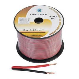 Cablu difuzor cupru 2x0.20mm rosu/negru 100m