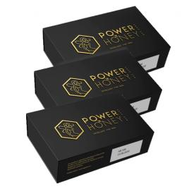 Set 3x Tratament pentru potenta si erectii de lunga durata, Power Honey, 100% natural (18 plicuri)