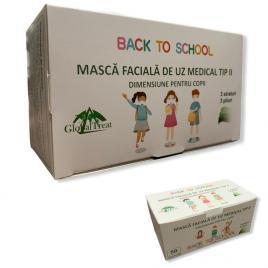 Cutie 50 buc. Masca Medicala Copii Tip 2 BFE 98%