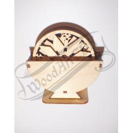 Set suporturi Pahare Coaster din Lemn