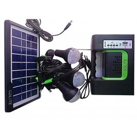 Kit incarcator cu Panou Solar, 3 becuri LED / USB / RadioFM