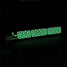 Placa numar telefon fosforescent parcare temporara pentru parbriz, culoare auriu - Motor Starter