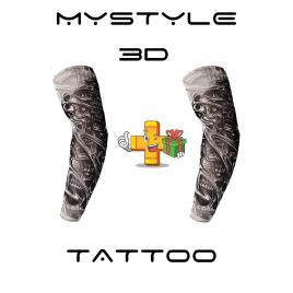 SET Doua Maneci Tatuate     3D Print - Imita un tatuaj real 100% - Body art tattoo maneca