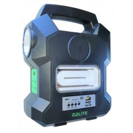 Sistem Iluminare LED cu Incarcare Solara, 3 Becuri LED/Radio FM/Slod MicroSD/BLUETOOTH