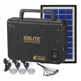 Sistem Iluminare LED cu Incarcare Solara, 3 Becuri LED