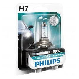 Bec auto cu halogen Philips H7 Xtreme Vision 12V +100 55W 1 Buc