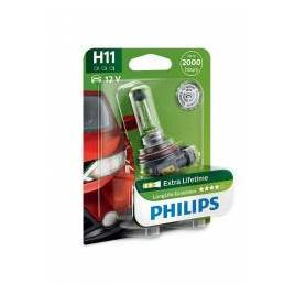 Bec auto cu halogen pentru far Philips H11 Long Life Eco Vision 12V 55W 1 Bec