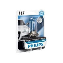 Bec auto cu halogen pentru far Philips White Vision H7 12V 55W PX26D 1 buc