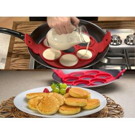 Forma din silicon alimentar pentru gatit oua si clatite in forma rotunda