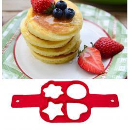 Forma patrata din silicon alimentar pentru gatit oua si clatite in forma de inima/stea/cerc/floare,