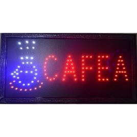 Reclama Text LED - Cafea / pentru interior cu animatie luminoasa si dinamica