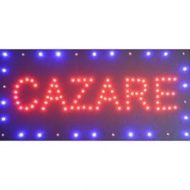 Reclama Text LED Cazare / de interior, animatie luminoasa dinamica