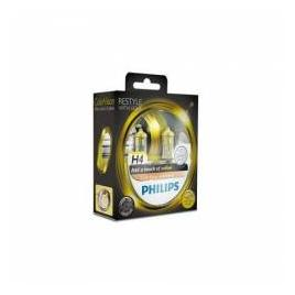 Set 2 Becuri auto far halogen Philips H4 Color Vision Yellow 12V 55W