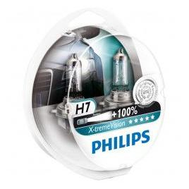 Set 2 Becuri auto far halogen Philips H7 X-treme Vision +100 12V 55W