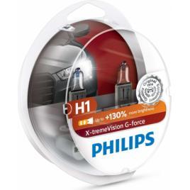 Set 2 becuri auto Philips H1 55W 12V X-TREME VISION G-FORCE +130