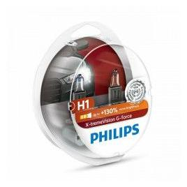 Set 2 becuri auto Philips H1 X-tremeVision G-force +130 12V 55W