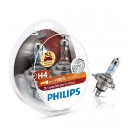 Set 2 becuri auto Philips H4 X-tremeVision G-force +130 12 V 55/60 W