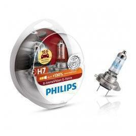 Set 2 becuri auto Philips H7 X-tremeVision G-force +130 12 V 55/60 W